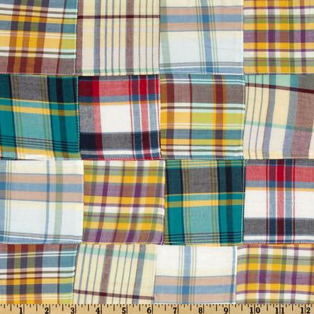 Kaufman Nantucket Patchwork Plaid Multi Fabric