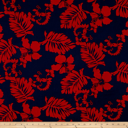 Kaufman Paradise Pareaus 3 Large Tropical Americana Fabric By The Yard