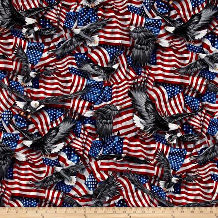 Kaufman Patriots Flags Americana Fabric By The Yard