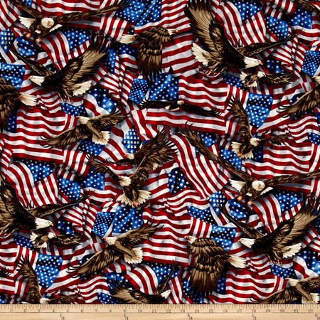 Kaufman Patriots Flags Celebration Fabric By The Yard