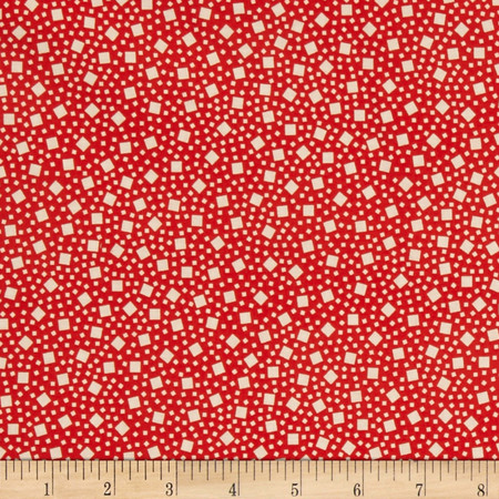 Kaufman Penny's Pets Boxes Red Fabric By The Yard