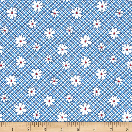 Kaufman Penny's Pets Daisy Evening Fabric By The Yard
