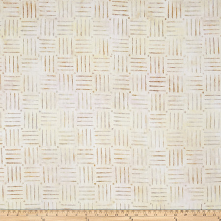 Kaufman Quilt Block Batik Line Plaid Sand Fabric