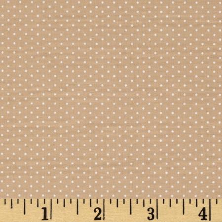 Kaufman Sevenberry Petite Basics Mini Dot Natural Fabric By The Yard