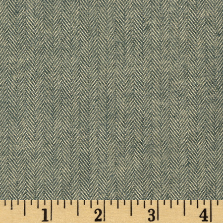 Kaufman Shetland Flannel Herringbone Oregano Fabric By The Yard