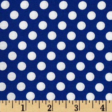 Kaufman Spot On Medium Dot Riviera Fabric
