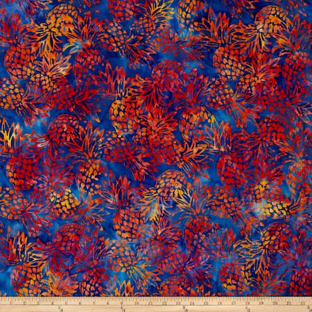 Kaufman Totally Tropical Batik Pineapples Tropical Fabric