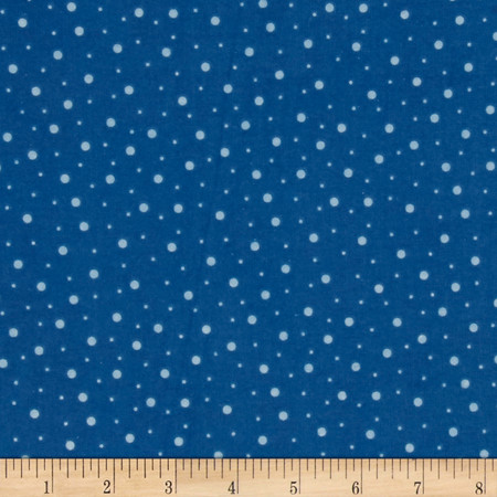 Kimberbell Little One Flannel Too! Random Dots Blue Fabric By The Yard