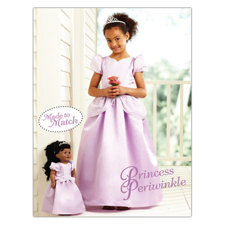 Kwik Sew Girls Princess Periwinkle Dress & Doll Dress (3903) Pattern