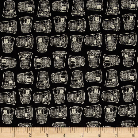 Lady Claire Thimbles Black Fabric