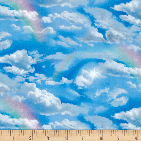 Landscape Medley Rainbow Sky Fabric By The Yard
