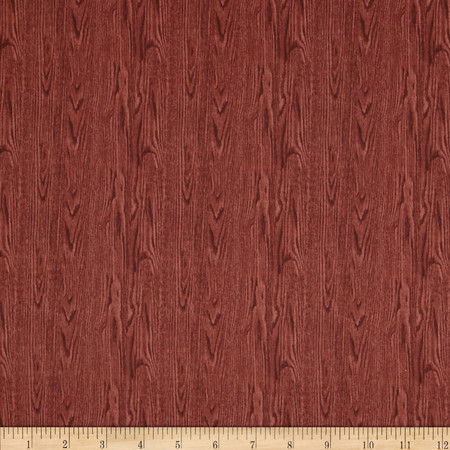 Landscape Medley Wood Texture Red Fabric