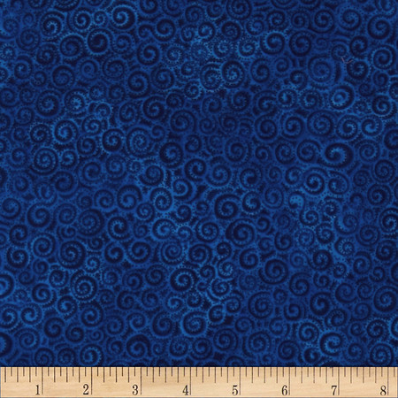 Laural Burch Swirls Light Royal Fabric By The Yard