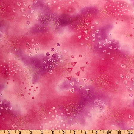 Laurel Burch Basics Glitter Pink Fabric