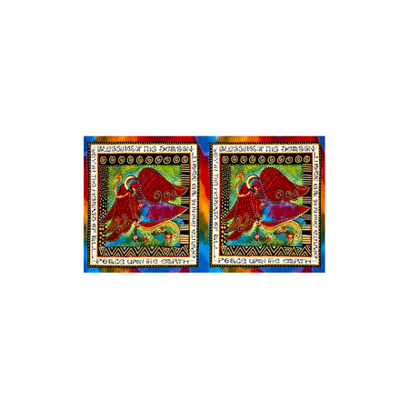 Laurel Burch Enchantment Metallic 25 In. Panel Blessings Multi Bright Fabric By The Yard