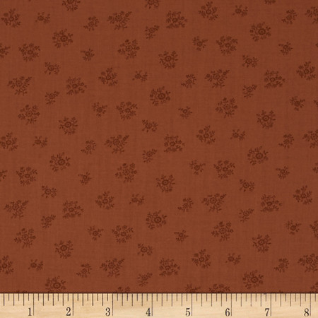Lecien Petite Fleur Tone on Tone Spring Brown Fabric
