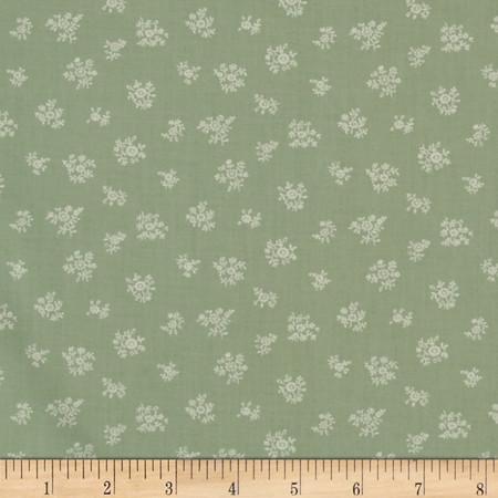 Lecien Petite Fleur Tone on Tone Spring Sage Fabric