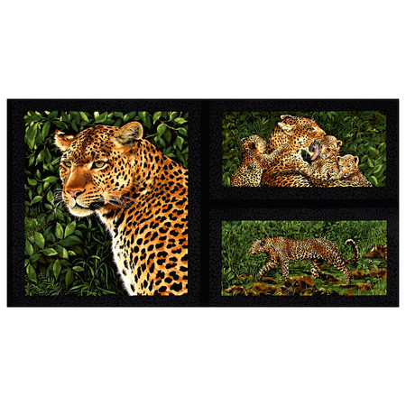 Leopard 23'' Panel Multi Fabric By The Yard