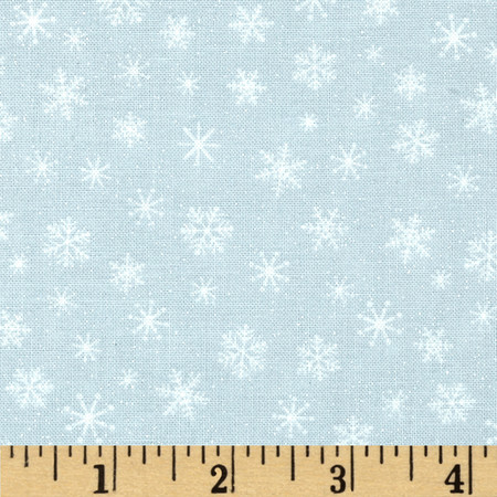 Let It Snow Glitter Snowflake Tonal Gray Fabric