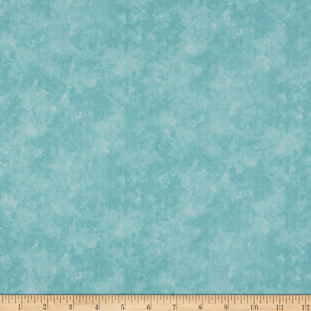 Let it Snow Flannel Textured Mint Fabric