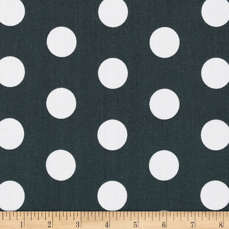 Let's Play Dolls Medium Dots Grey Fabric By The Yard