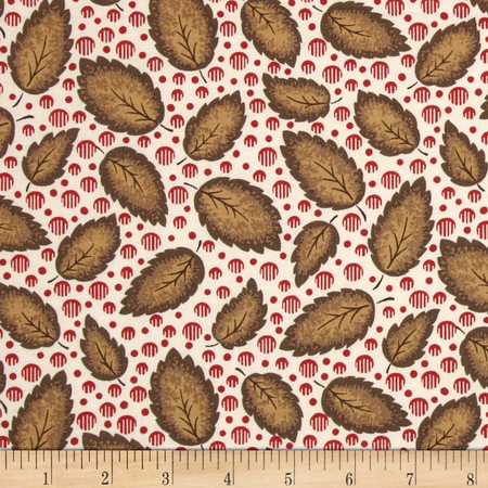 Letters Home Leaf Colonial Fabric