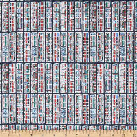 Liberty of London Denim Progeny Red/Blue Fabric