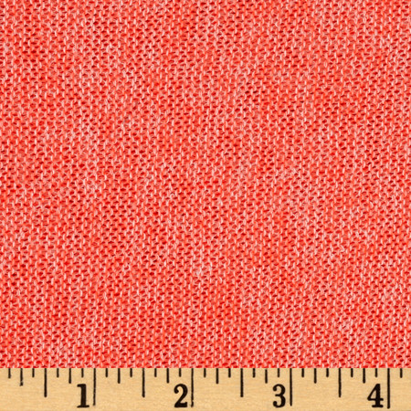 Lightweight Marled Sweater Knit Neon Coral Fabric By The Yard