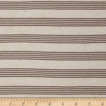 Lightweight Speckle Stripe Jersey Knit Fabric By The Yard