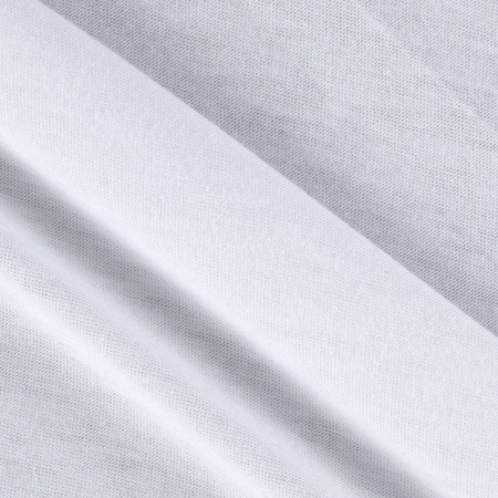 Lightweight Stretch Jersey Knit White Fabric