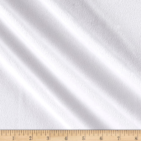 Lightweight Velour White Fabric By The Yard