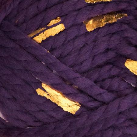 Lion Brand Yarn Gold Leaf Purple Gold