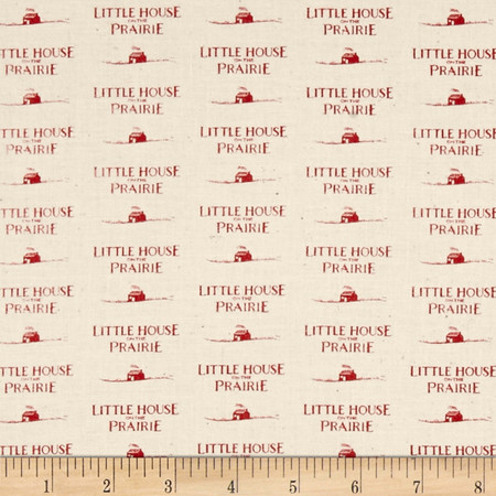 Little House On The Prairie Logo Red Fabric By The Yard