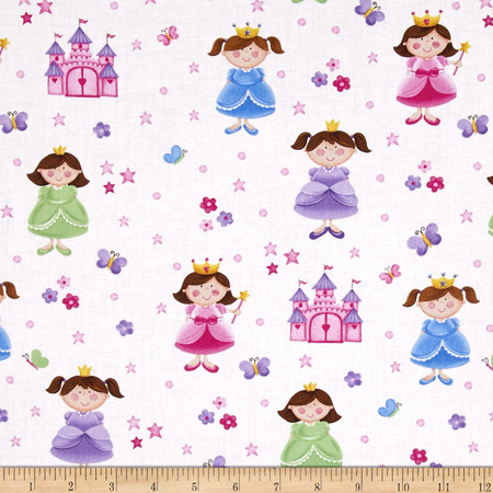 Little Princess Castle & Princess White Fabric