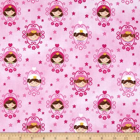 Little Princess Framed Princess Pink Fabric