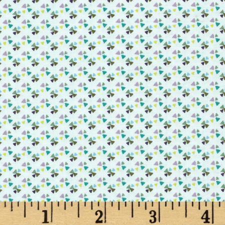 Little Tinies Pinwheel Green Fabric