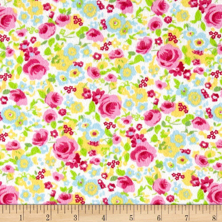 Lola Flannel Multi Fabric By The Yard