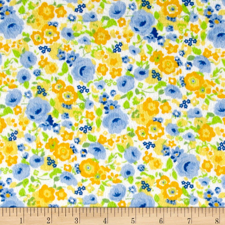 Lola Flannel Yellow Fabric By The Yard