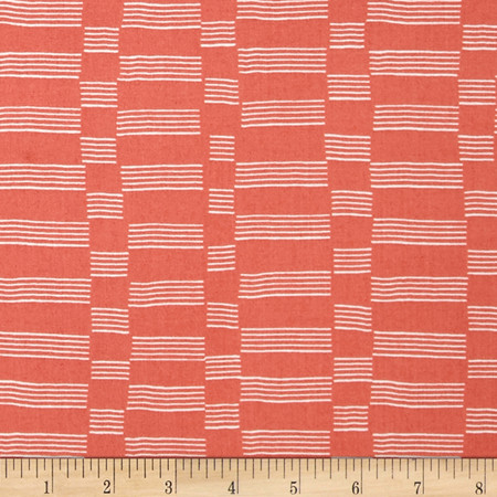 Lotta Jansdotter Lucky Etapp Coral Pink Fabric By The Yard