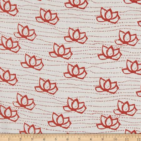 Lotta Jansdotter Lucky Kamala Coral Pink Fabric By The Yard