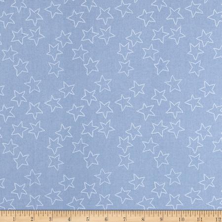Lotta Jansdotter Stella Stella Cashmere Blue Fabric