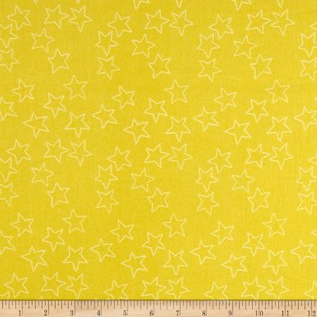Lotta Jansdotter Stella Stella Citrus Lime Fabric
