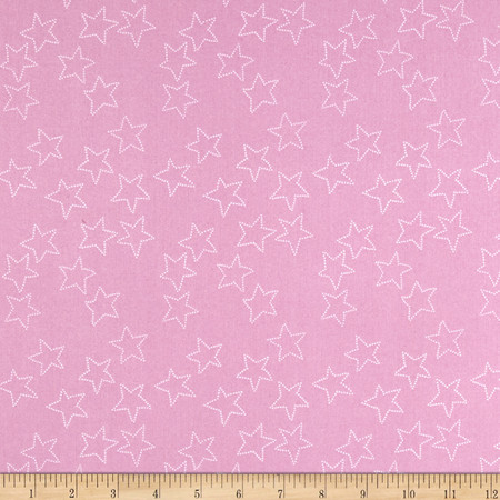 Lotta Jansdotter Stella Stella Pink Mist Fabric
