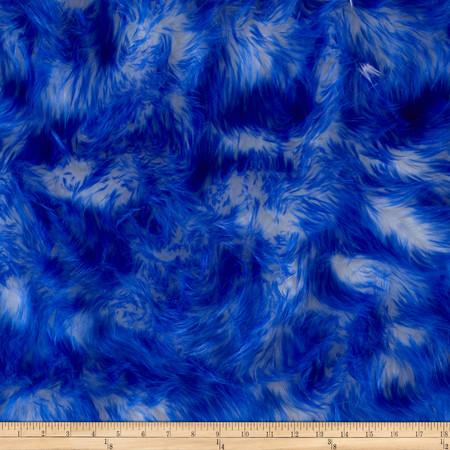 Luxury Faux Fur Candy Shag Royal Blue Fabric By The Yard