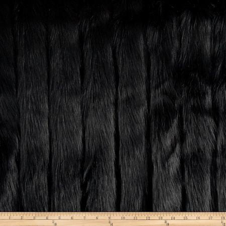 Luxury Faux Fur Fox Black Fabric By The Yard