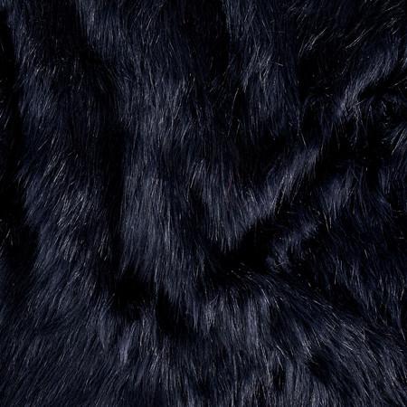Luxury Faux Fur Fox Indigo Fabric By The Yard