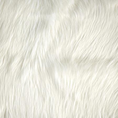 Luxury Faux Fur Fox Ivory Fabric By The Yard