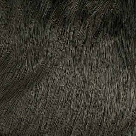 Luxury Faux Fur Fox Steel Fabric By The Yard