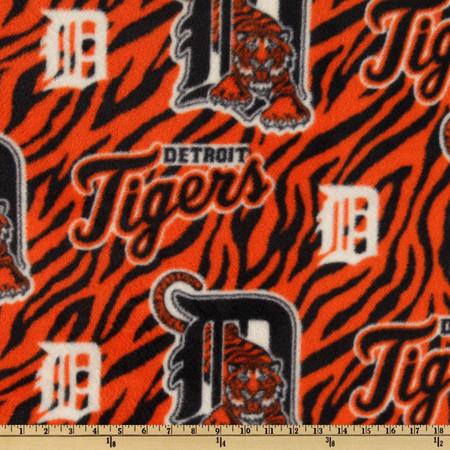 MLB Fleece Detroit Tigers Toss Blue/Orange Fabric