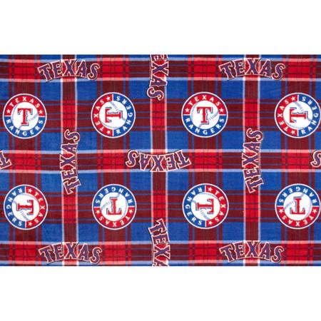 MLB Fleece Texas Rangers Fabric By The Yard